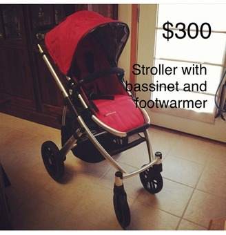 UPPAbaby Vista Stroller with accessories